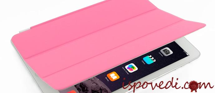 планшет в розовом чехле