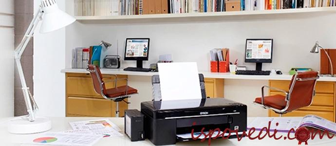 принтер на рабочем столе