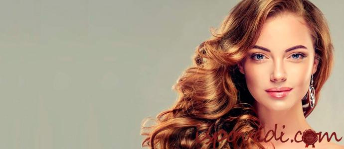 девушка с ухоженными волосами