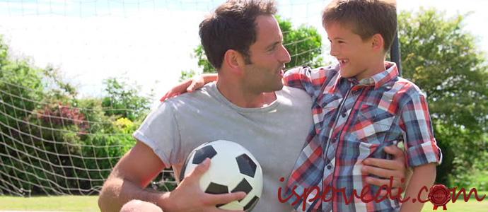 Сын с отцом