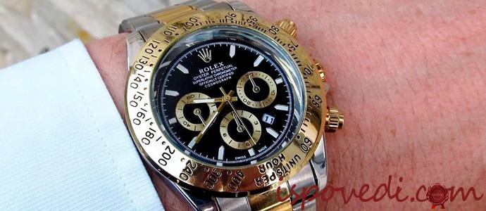 часы Rolex на мужской руке