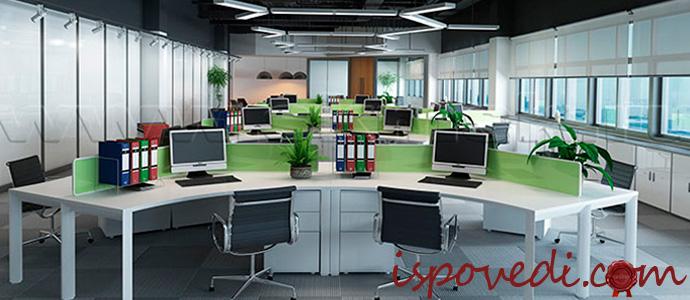 современный дизайн офисных помещений