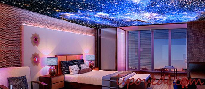 натяжные потолки в стиле звездного неба