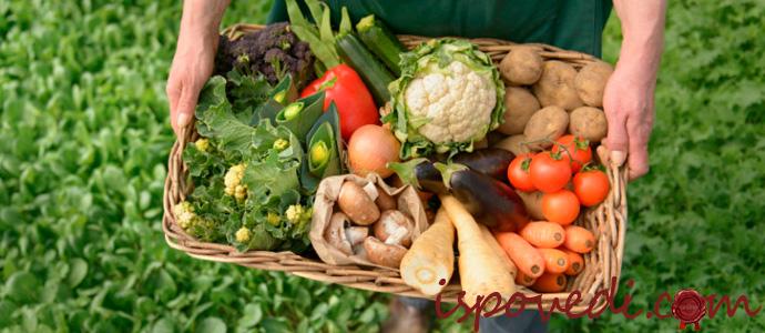 фермерские овощи и фрукты