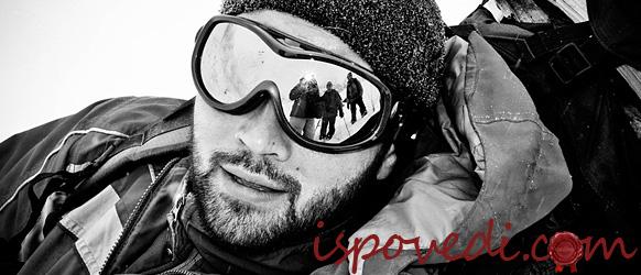 Альпинист в солнцезащитных очках