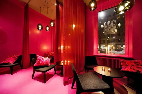 Дизайн интерьера в красных тонах