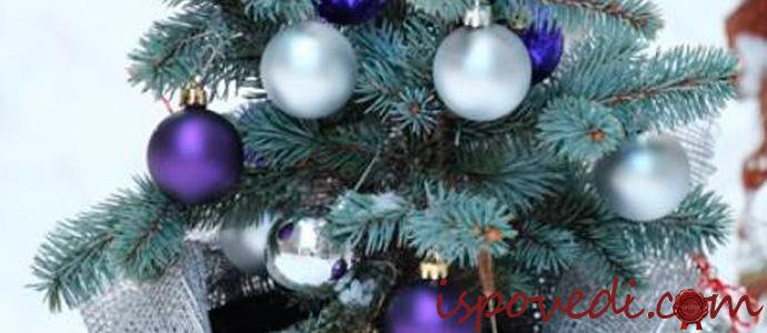 новогодняя голубая елка