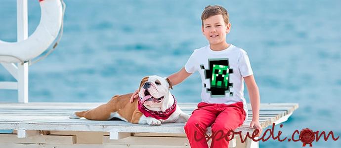 мальчик в качественной футболке