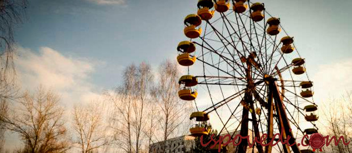 колесо обозрения в Чернобыле