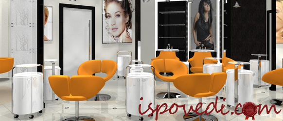 Интерьер нашего нового салона красоты