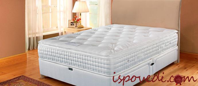 кровать с латексным ортопедическим матрасом