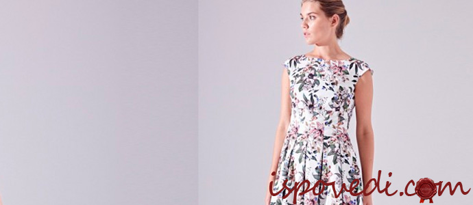 девушка в модном дизайнерском платье
