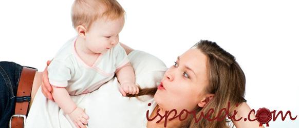 мама с маленьким ребенком