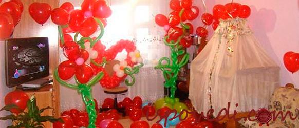 Красные шары для девочки