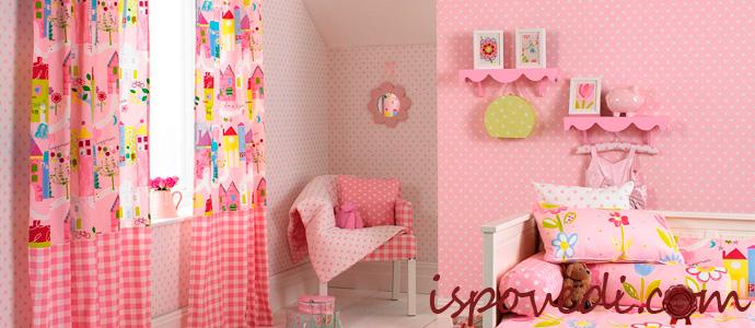 яркие шторы в детской комнате
