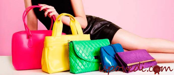 женщина с модными сумками