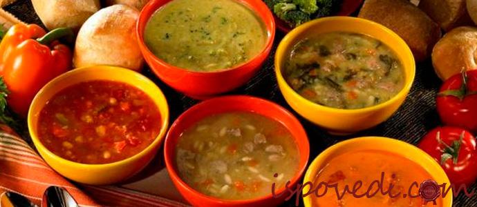 виды вкусных и полезных супов