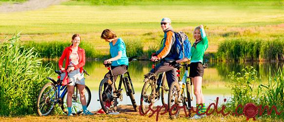 Велосипедная прогулка с друзьями