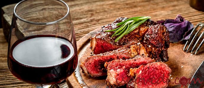 красное вино к мясу